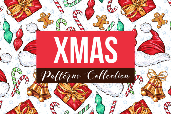 Big Xmas Patterns Collection Graphic Patterns By ilonitta.r