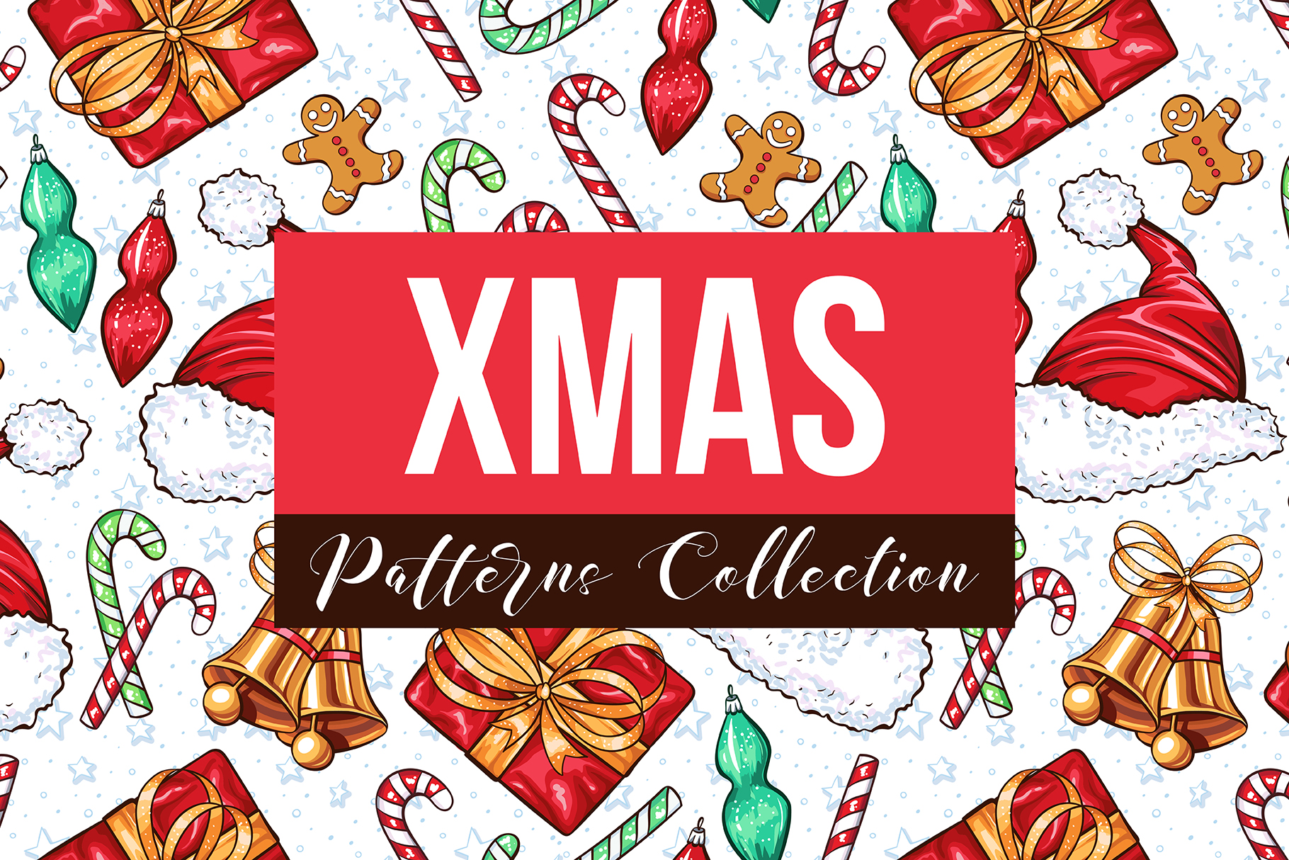 Download Free Big Xmas Patterns Collection Graphic By Ilonitta R Creative for Cricut Explore, Silhouette and other cutting machines.