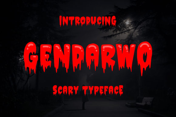 Print on Demand: Gendarwo Display Font By Blankids Studio