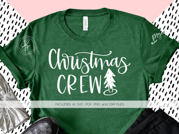 Print on Demand: Christmas Crew Graphic Crafts By BeckMcCormick - Image 1