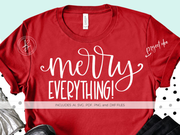 Download Free Merry Everything Graphic By Beckmccormick Creative Fabrica for Cricut Explore, Silhouette and other cutting machines.