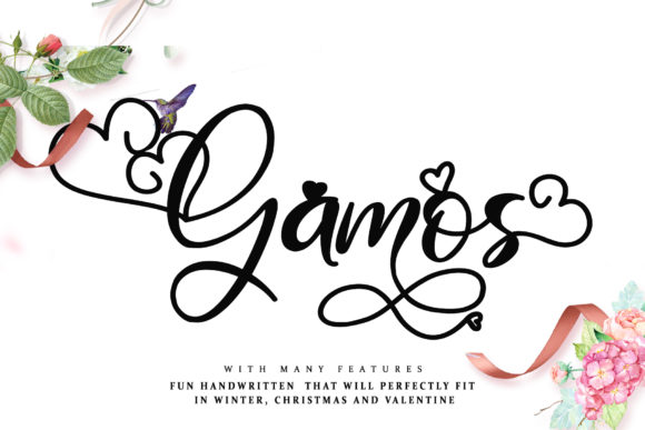 Print on Demand: Gamos Script & Handwritten Font By thomasaradea