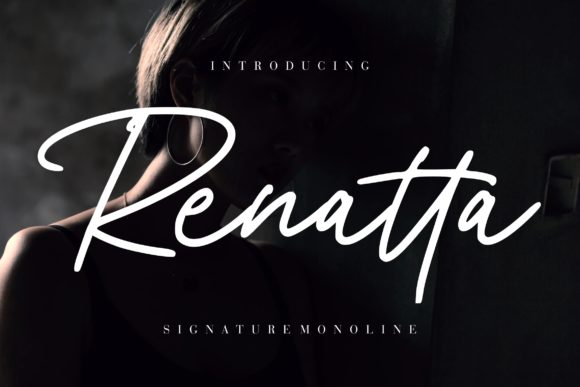 Print on Demand: Renatta Script & Handwritten Font By CreatypeStudio