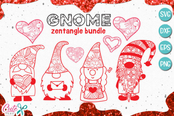 Gnome Mandala Zentangle Bundle Graphic By Cute files