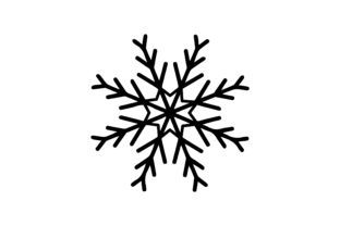 Snowflake Design Christmas Craft Cut File By Creative Fabrica Crafts