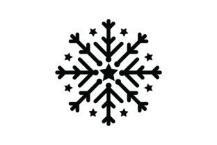 Snowflake with Stars Christmas Craft Cut File By Creative Fabrica Crafts