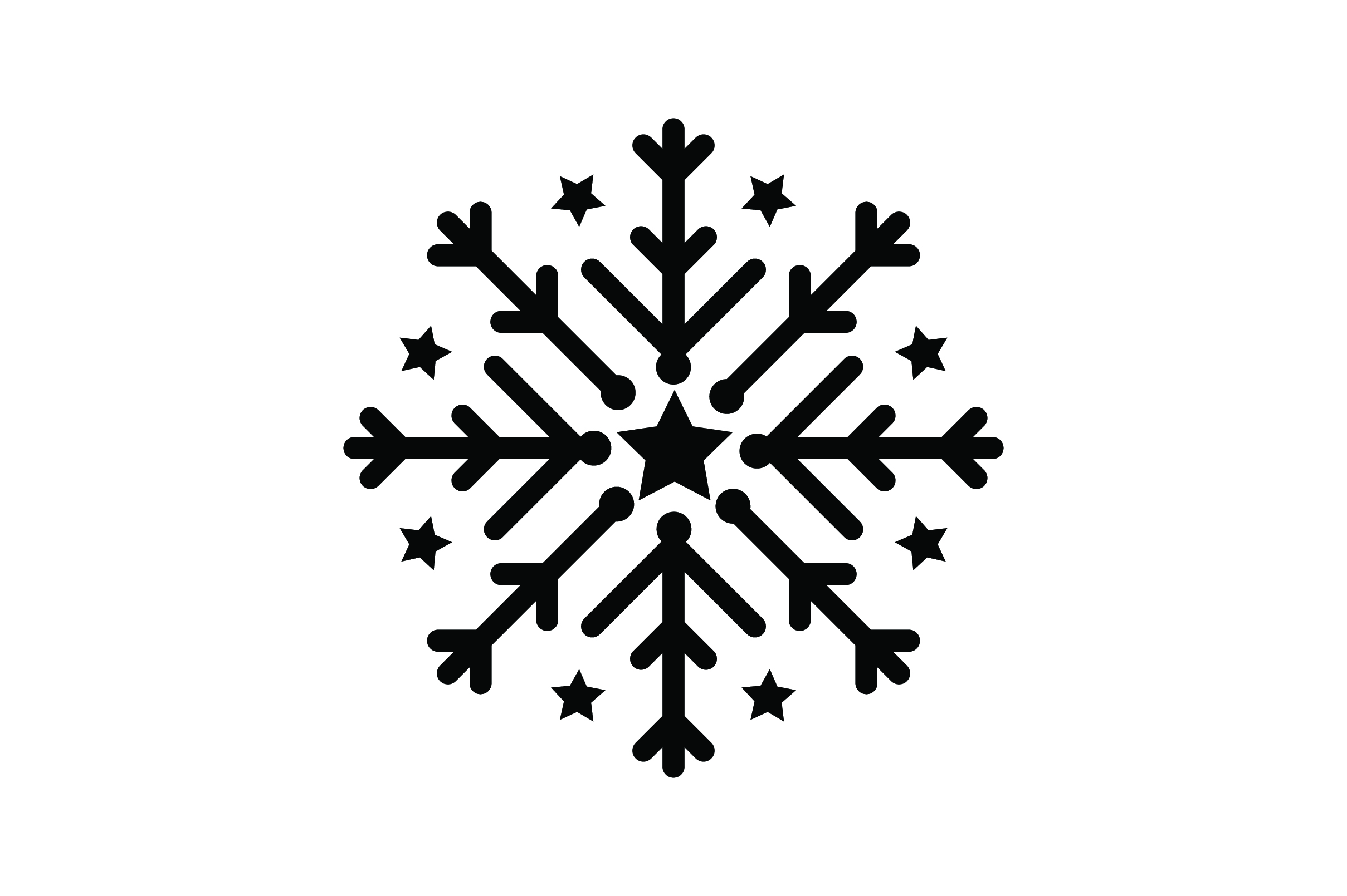 Download Free Snowflake With Stars Svg Cut File By Creative Fabrica Crafts for Cricut Explore, Silhouette and other cutting machines.