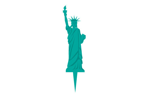 Statue of Liberty As Cake Topper Independence Day Plotterdatei von Creative Fabrica Crafts