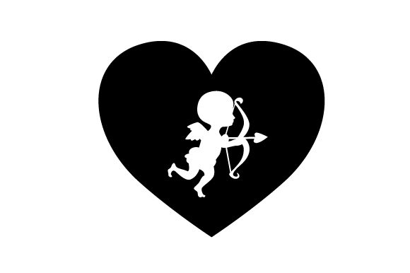 Download Free Heart With Cupid On It Svg Cut File By Creative Fabrica Crafts for Cricut Explore, Silhouette and other cutting machines.