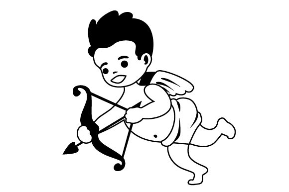 Download Free Cupid Shooting Bow Svg Cut File By Creative Fabrica Crafts for Cricut Explore, Silhouette and other cutting machines.