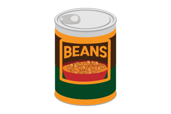 Can of Beans Kitchen Craft Cut File By Creative Fabrica Crafts