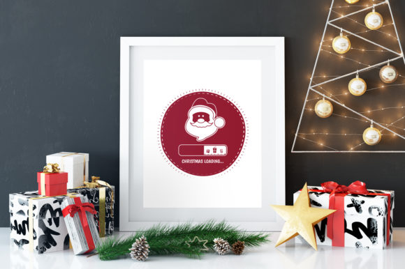 Download Free Christmas Loading Santa T Shirt Graphic By Jeksongraphics for Cricut Explore, Silhouette and other cutting machines.