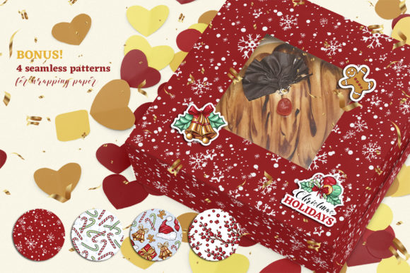 Christmas Colors Vector Sticker Pack Graphic Print Templates By ilonitta.r - Image 5