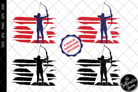Download Free Archery Women Flag Graphic By Thesilhouettequeenshop for Cricut Explore, Silhouette and other cutting machines.
