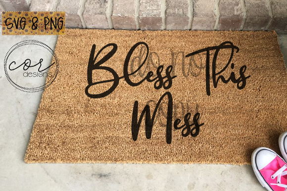 Print on Demand: Bless This Mess Graphic Crafts By designscor
