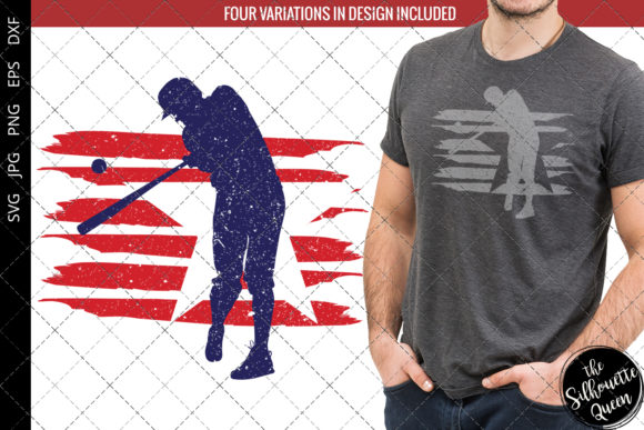 Download Free Baseball Flag Graphic By Thesilhouettequeenshop Creative Fabrica for Cricut Explore, Silhouette and other cutting machines.