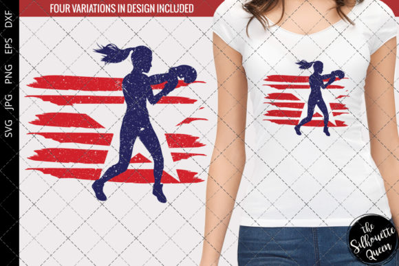 Download Free Boxing Women Flag Graphic By Thesilhouettequeenshop Creative for Cricut Explore, Silhouette and other cutting machines.