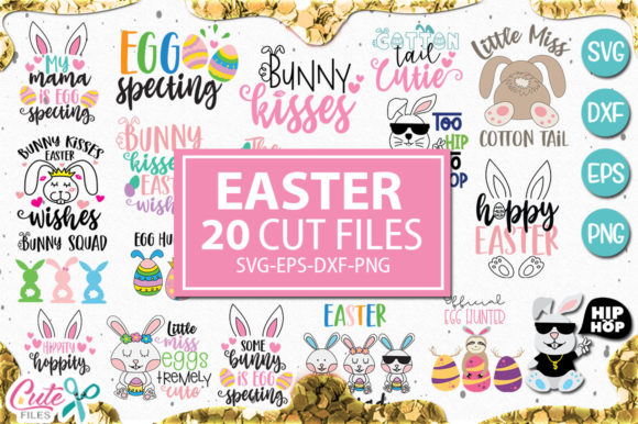 Download Free Easter Saying Bundle Graphic By Cute Files Creative Fabrica for Cricut Explore, Silhouette and other cutting machines.