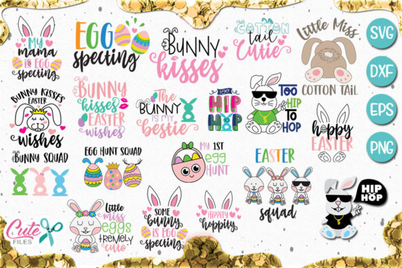 Easter Saying Bundle Graphic Illustrations By Cute files - Image 6