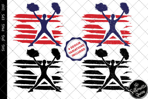 Download Free Cheerleading 1 Flag Graphic By Thesilhouettequeenshop Creative for Cricut Explore, Silhouette and other cutting machines.