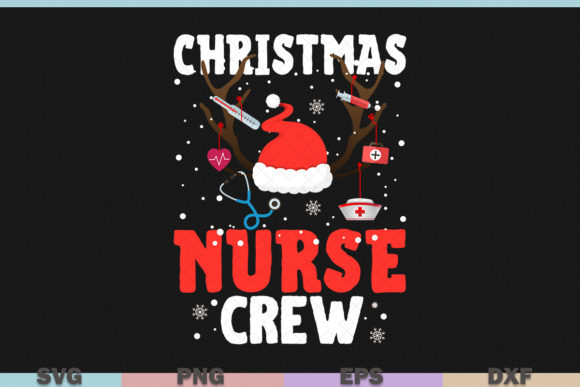 Download Free Christmas Nurse Crew Nursing Graphic By Graphicza Creative Fabrica for Cricut Explore, Silhouette and other cutting machines.