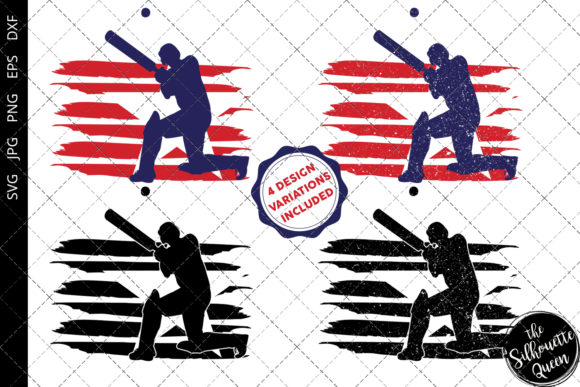 Download Free Cricket Flag Graphic By Thesilhouettequeenshop Creative Fabrica for Cricut Explore, Silhouette and other cutting machines.
