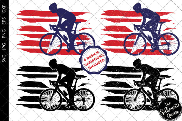 Download Free Cycling Men Flag Graphic By Thesilhouettequeenshop Creative for Cricut Explore, Silhouette and other cutting machines.