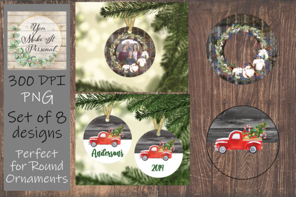 Download Free Christmas Ornament Designs Graphic By You Make It Personal for Cricut Explore, Silhouette and other cutting machines.