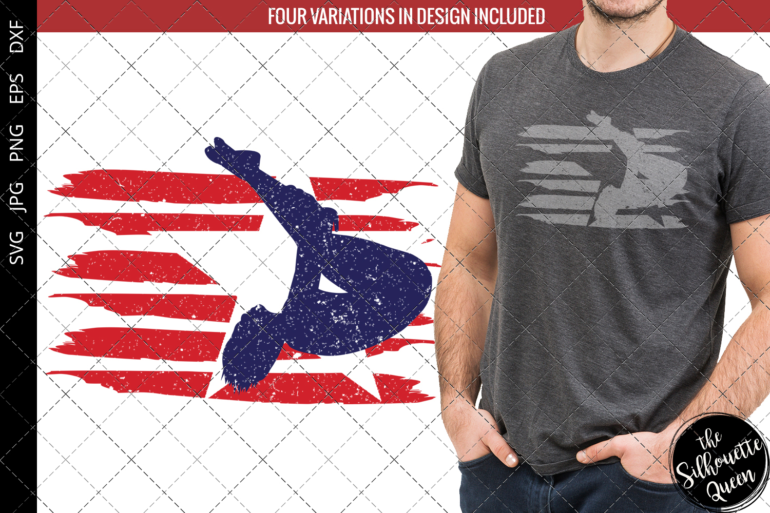 Download Free Diving Men Flag Graphic By Thesilhouettequeenshop Creative for Cricut Explore, Silhouette and other cutting machines.