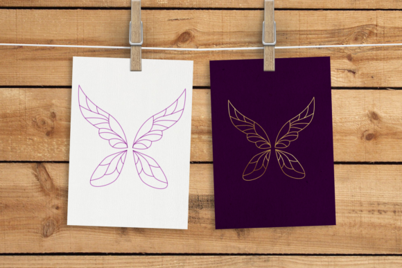 Fairy Wings Single Line Graphic Crafts By DesignedByGeeks