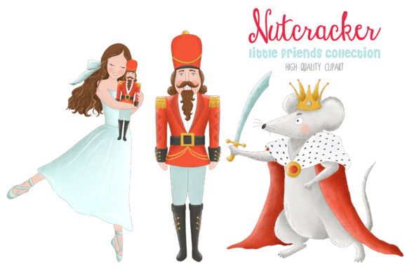 Nutcracker Christmas Ballet Clip Art Graphic Illustrations By kabankova - Image 1