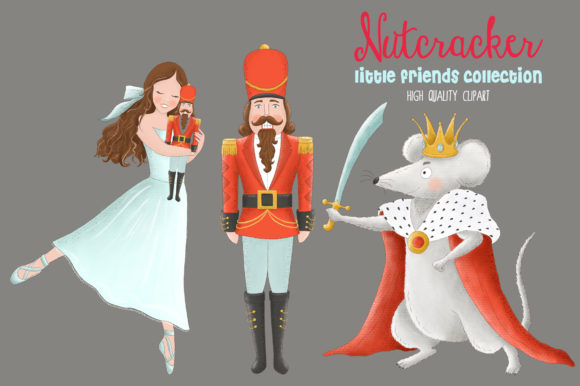 Nutcracker Christmas Ballet Clip Art Graphic Illustrations By kabankova - Image 2