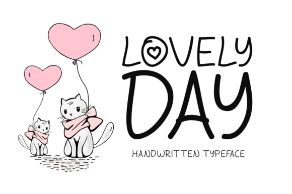 Print on Demand: Lovely Day Display Font By Instagram Fonts