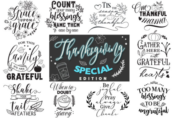 Print on Demand: Thanksgiving - 30 Cut Files Pack Graphic Crafts By Nerd Mama Cut Files - Image 1