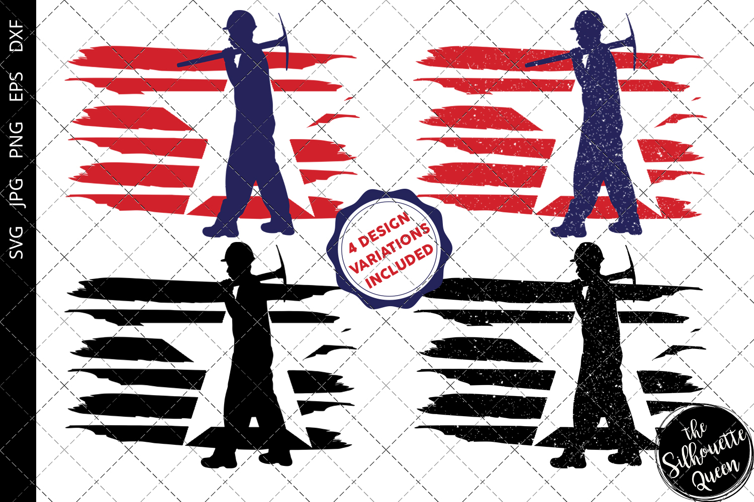 Download Free Miner Flag Graphic By Thesilhouettequeenshop Creative Fabrica for Cricut Explore, Silhouette and other cutting machines.