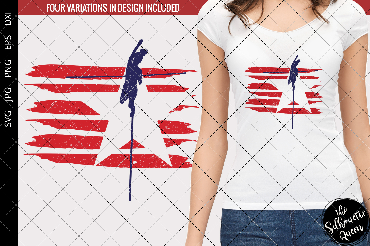 Download Free Pole Vault Track And Field Flag Graphic By Thesilhouettequeenshop Creative Fabrica for Cricut Explore, Silhouette and other cutting machines.