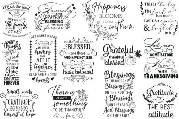 Download Free Thanksgiving 30 Cut Files Pack Graphic By Nerd Mama Cut Files for Cricut Explore, Silhouette and other cutting machines.