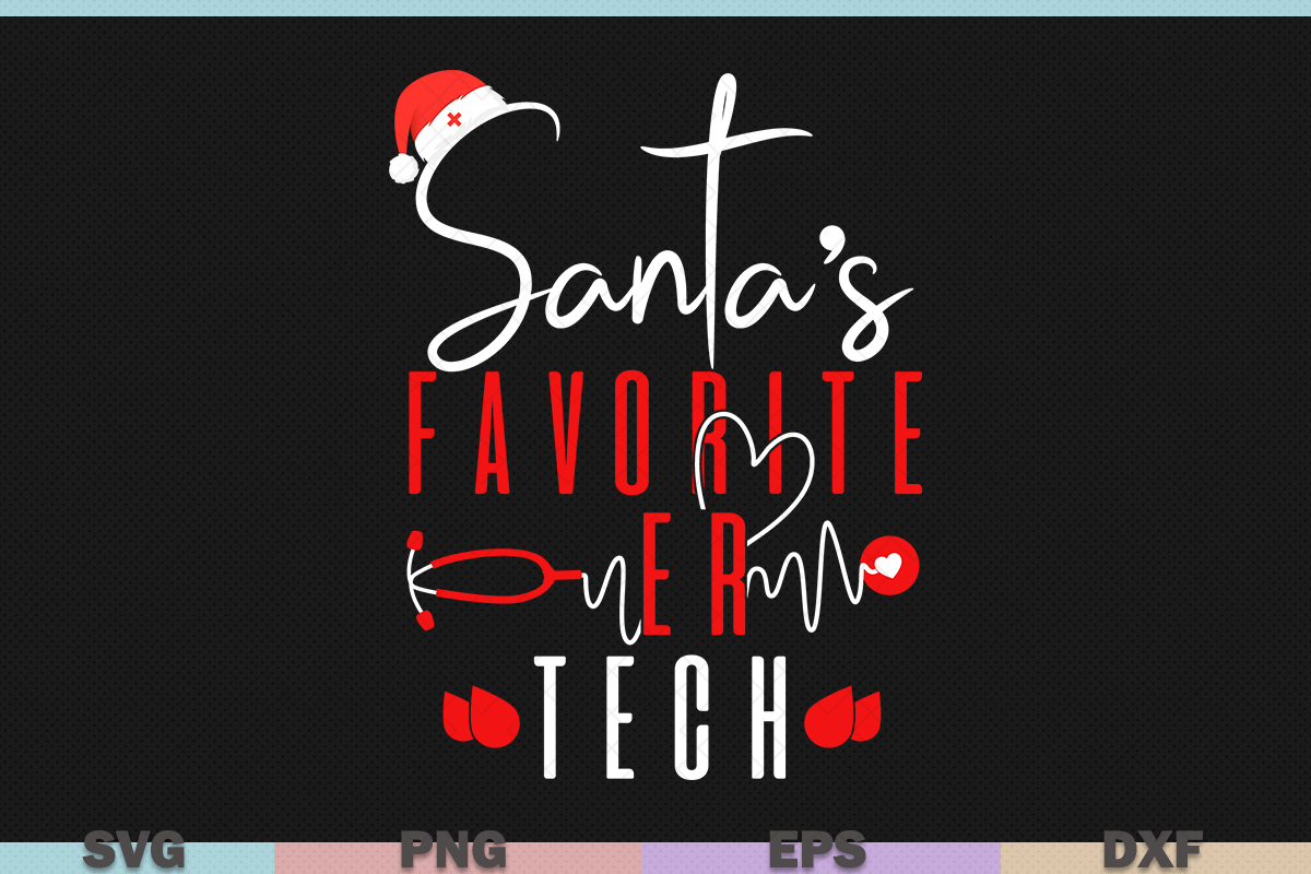 Download Free Santa S Favorite Er Tech Black Christmas Graphic By Graphicza for Cricut Explore, Silhouette and other cutting machines.