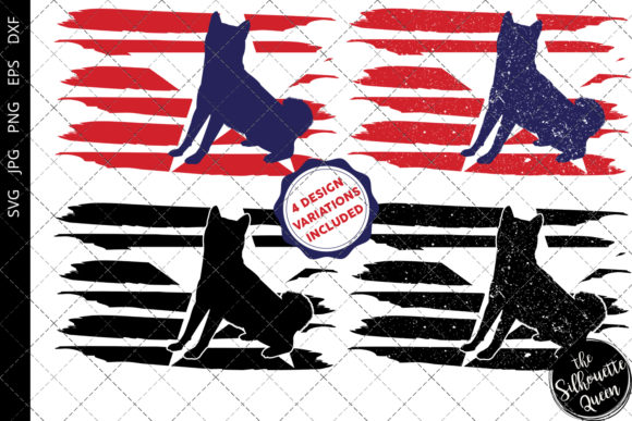 Download Free Shiba Inu Flag Graphic By Thesilhouettequeenshop Creative Fabrica for Cricut Explore, Silhouette and other cutting machines.