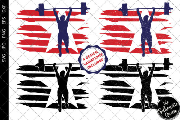 Download Free Weightlifting Women Flag Graphic By Thesilhouettequeenshop for Cricut Explore, Silhouette and other cutting machines.