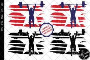 Weightlifting Women Flag Graphic By Thesilhouettequeenshop