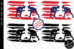Download Free Wrestling Men Flag Graphic By Thesilhouettequeenshop for Cricut Explore, Silhouette and other cutting machines.
