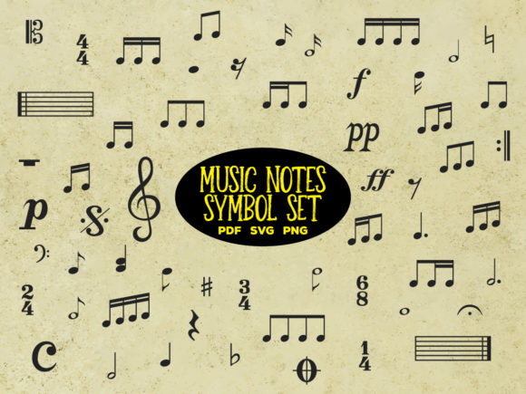 Print on Demand: Music Notes and Symbols Vector Bundle Graphic Illustrations By yumiguelgfxartshop
