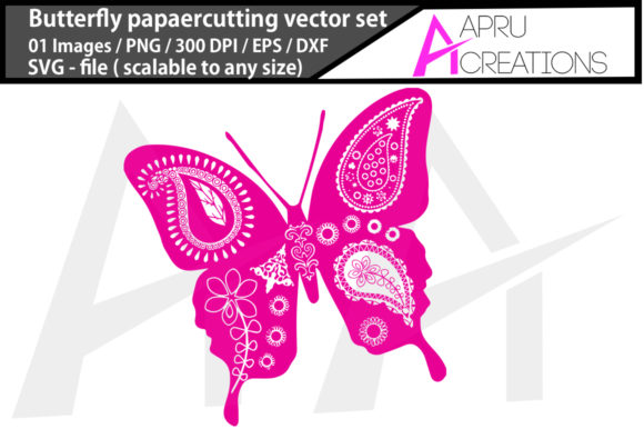 Download Free Butterfly Paper Cutting Butterfly Pape Graphic By Aparnastjp for Cricut Explore, Silhouette and other cutting machines.