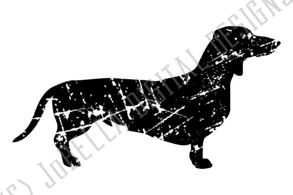 Download Free Grunge Dachshund Graphic By Jobella Digital Designs Creative for Cricut Explore, Silhouette and other cutting machines.