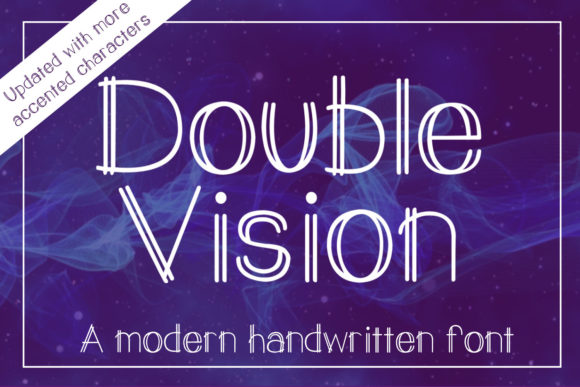 Print on Demand: Double Vision Decorative Font By stacysdigitaldesigns