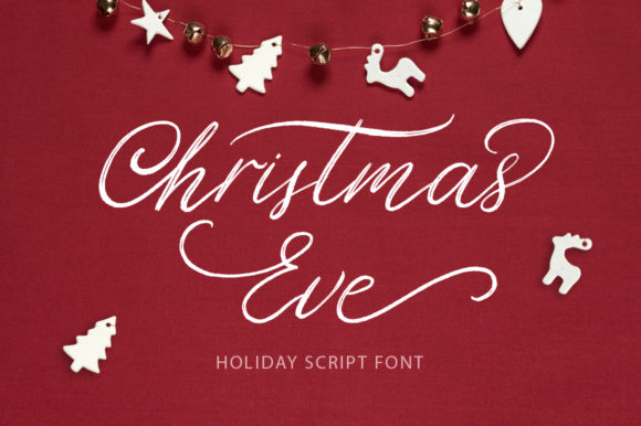Print on Demand: Christmas Eve Script & Handwritten Font By billcreativestore
