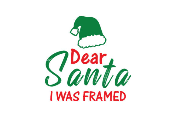 Download Free Dear Santa I Was Framed Graphic By Tube Shakiluzzaman Creative for Cricut Explore, Silhouette and other cutting machines.