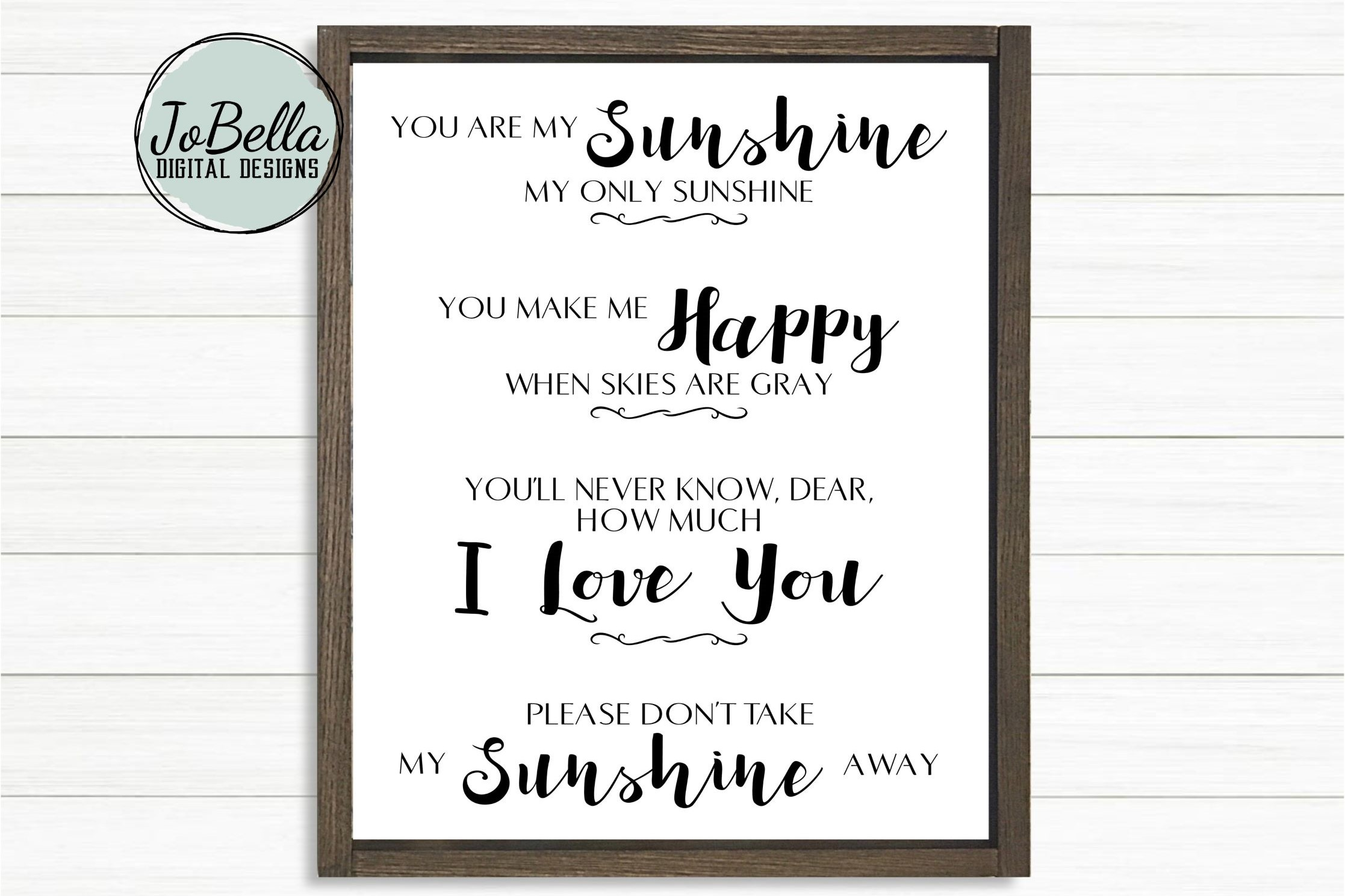Download Free You Are My Sunshine Graphic By Jobella Digital Designs for Cricut Explore, Silhouette and other cutting machines.