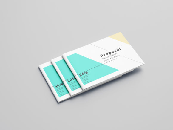 Minimalist Proposal Template Design Graphic Print Templates By duasago